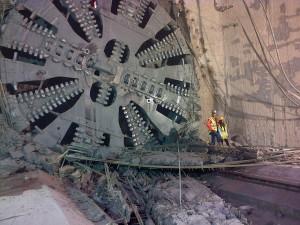 tunnelier T6 en gare