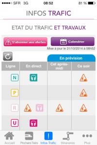 appli transilien info trafic