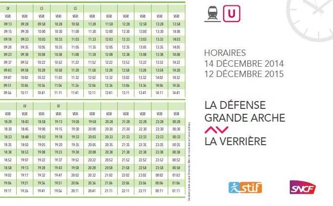 Les horaires des lignes n et u - Horaire castorama la defense ...