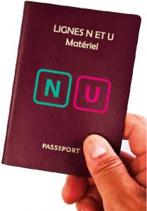 Passeport illustration lignes N et U