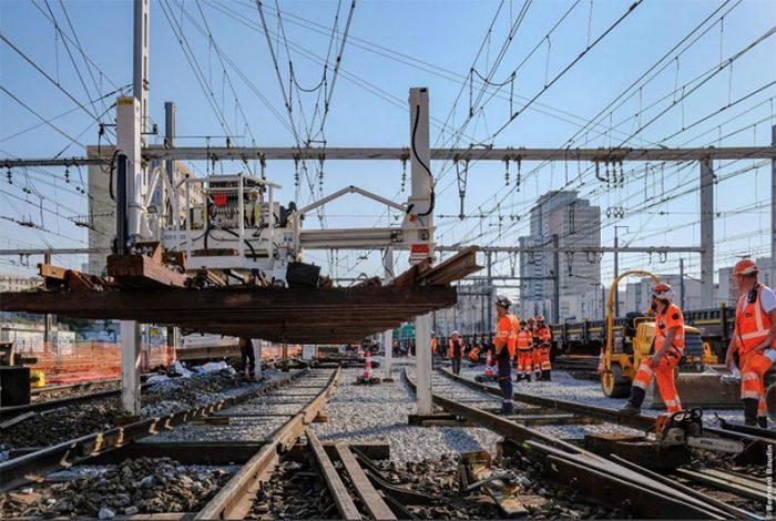 Renouvellement des appareils de voie à Paris-Montparnasse en 2018 - © Bernard Baudin