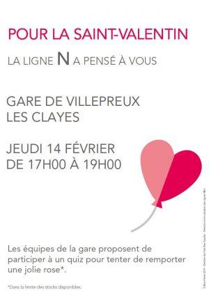 Stand Saint-Valentin à Villepreux-Les Clayes