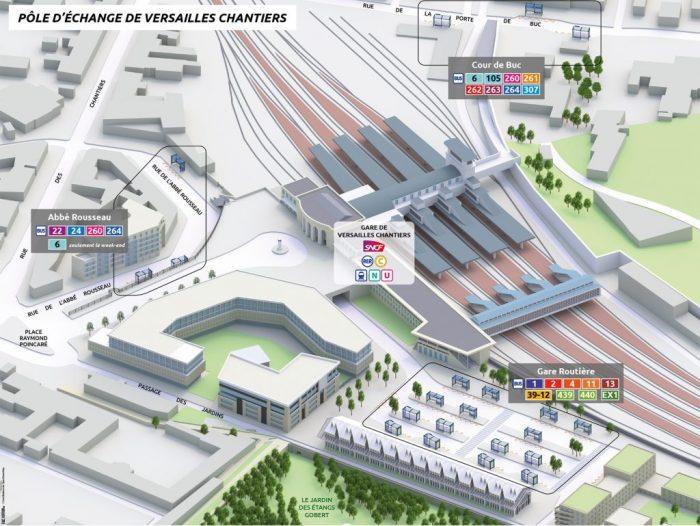 Arrêts de bus - Versailles-Chantiers