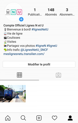 Instagram lignes N et U