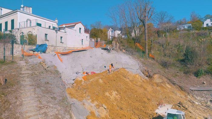 Travaux sur le talus à Sèvres-Ville d'Avray - Semaine 14