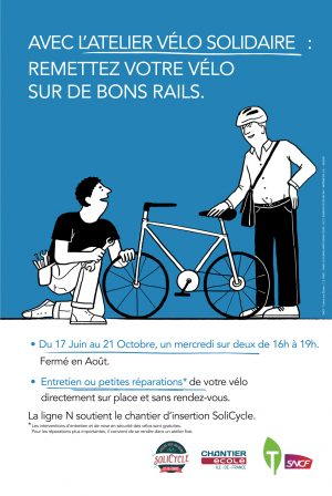Transilien/SoliCycle - Ateliers vélos solidaires