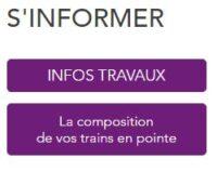 Accès à la page de composition des trains