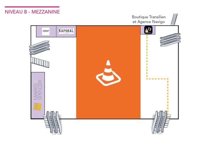 Paris-Montparnasse - Parcours entre la ligne N et le métro - octobre 2020 - niveau mezzanine