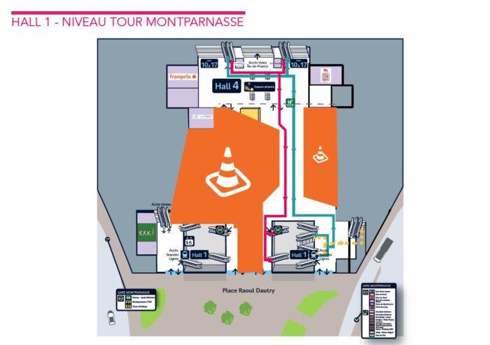 Paris-Montparnasse - Parcours entre la ligne N et le métro - octobre 2020 - niveau Tour Montparnasse