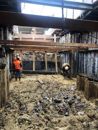 La Verrière - janvier 2021 - Travaux de terrassement - salle souterraine