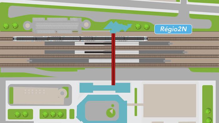 AlAllongement des quais pour accueillir les futures rames Regio2N de la ligne N à Saint-Quentin-en-Yvelines