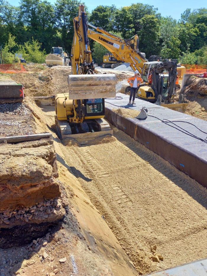Futur passage souterrain de Maule - Repose des voies