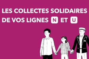 Collectes solidaires lignes N & U Transilien